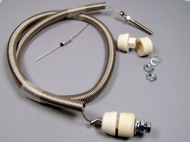 A restring kit with bolt ends