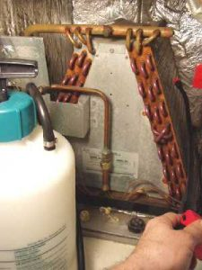 Cleaning Air Conditioner Unit Coils