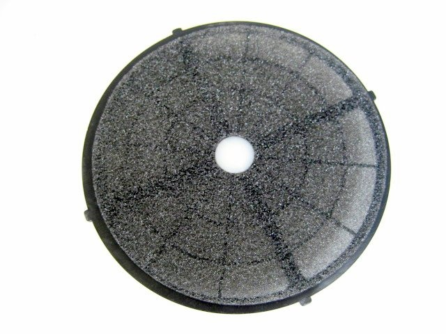 Bathroom exhaust fan damper filter.