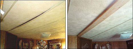 Manufactured Home Ceiling Panel Repair