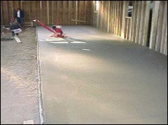 pouring basement floor