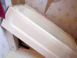 Replacing a mobile home tub