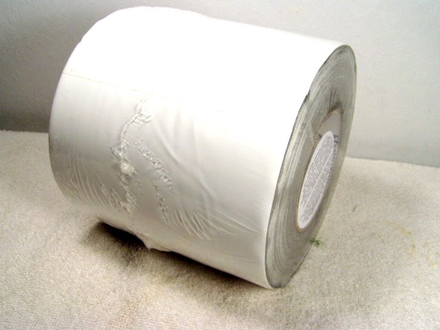 6x50 roll of white plastic repair tape.