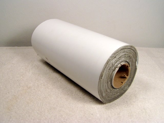 8x10 roll of white rubber repair tape.