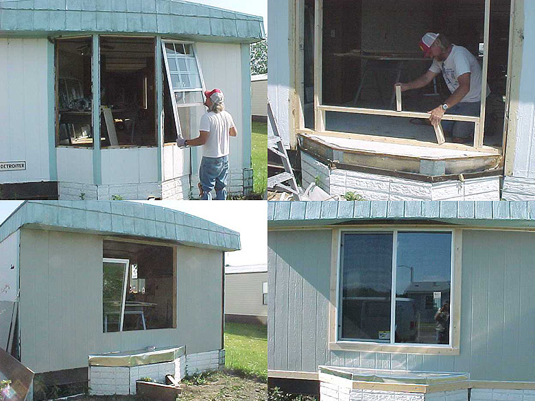 How To Replace A Leaky Rotten Bay Window Mobile Home Repair