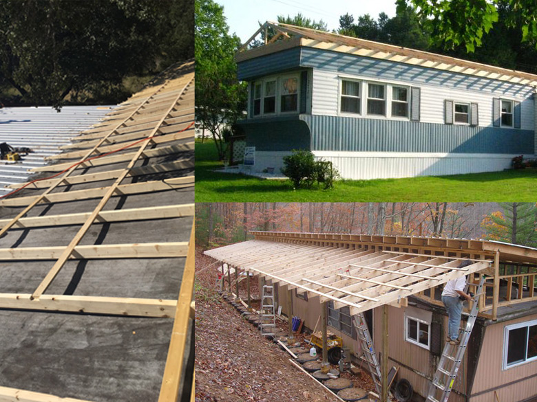 Mobile Home Roof Over Examples